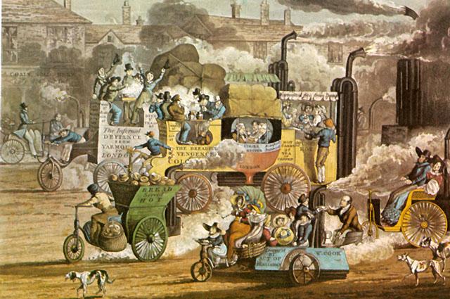Примерно так, виделись будущие транспортные пробки, из середины 30-х годов 19 века.