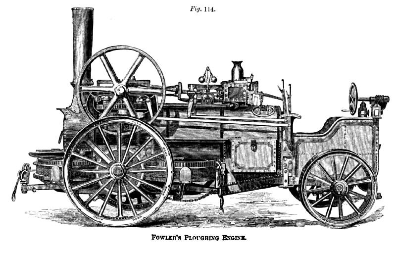 Первый локомобиль фирмы Фаулер. 1869 год.
