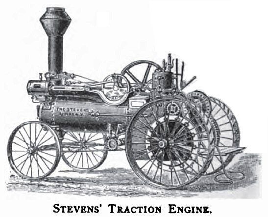 1886 A. W. Stevens & Son, Steam Traction Engine