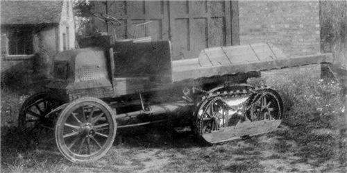 1907 год. Полугусеничный грузовик Бемонда. СаСШ.