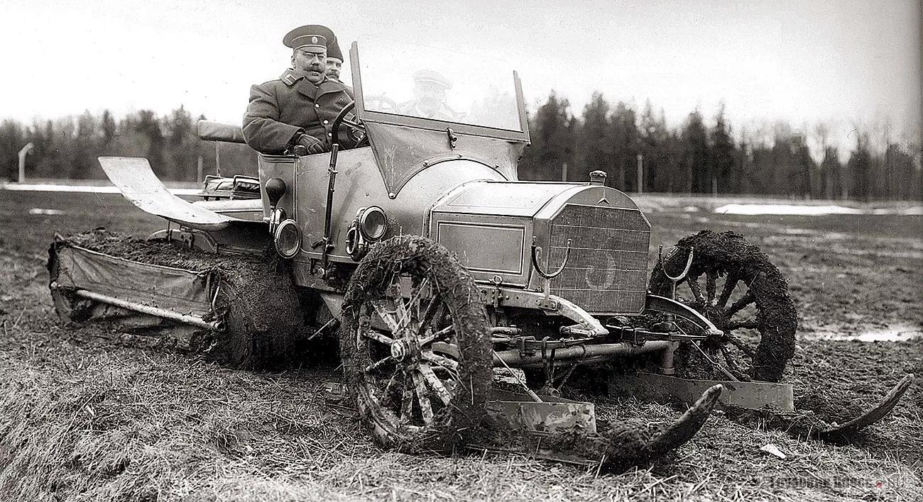 1911, полугусеничный автомобиль Кегресса. Франция-Россия.