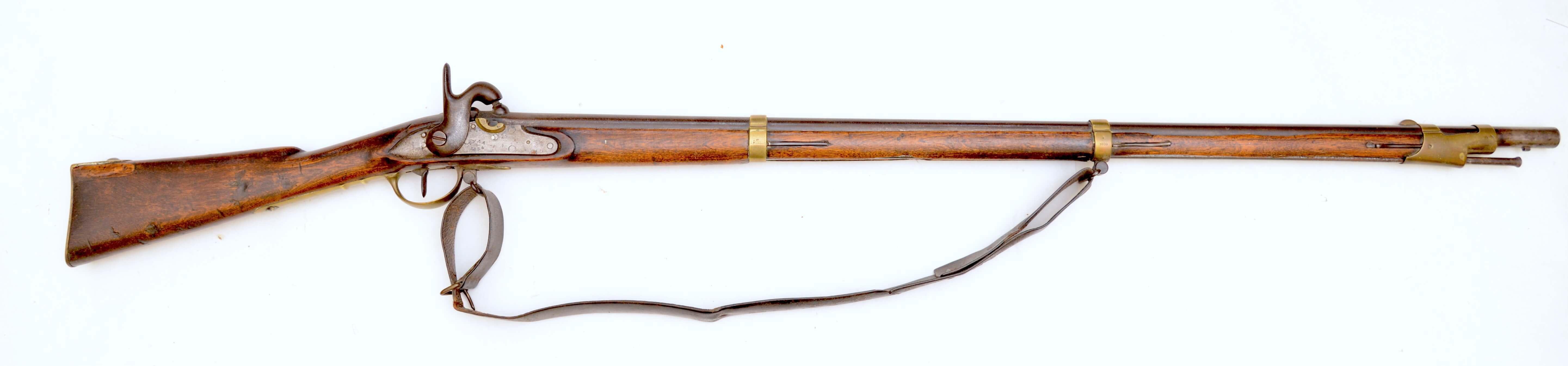 1844 год. Русское пистонное пехотное, дульнозарядное ружьё. Калибр 19 мм.