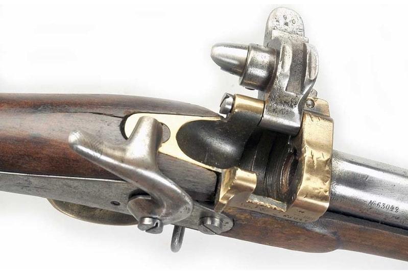 Затвор винтовки Крнка, принятой на вооружение в 1869 году.