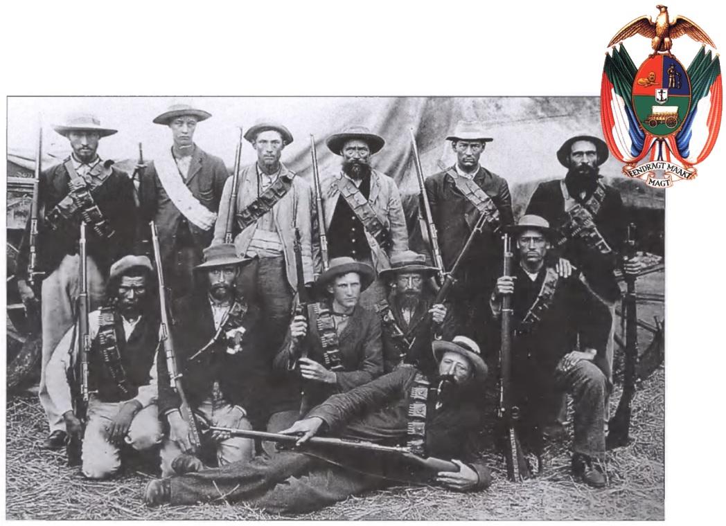 Буры-африканеры, со своими винтовками.