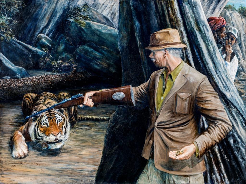 Маузер против тигра-людоеда.
