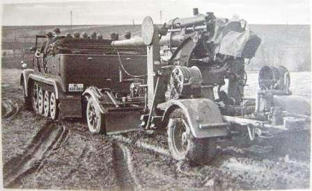 Sd.Kfz_.-7-средний-армейский-тягач-вермахта-и-88-миллиметровая-зенитка