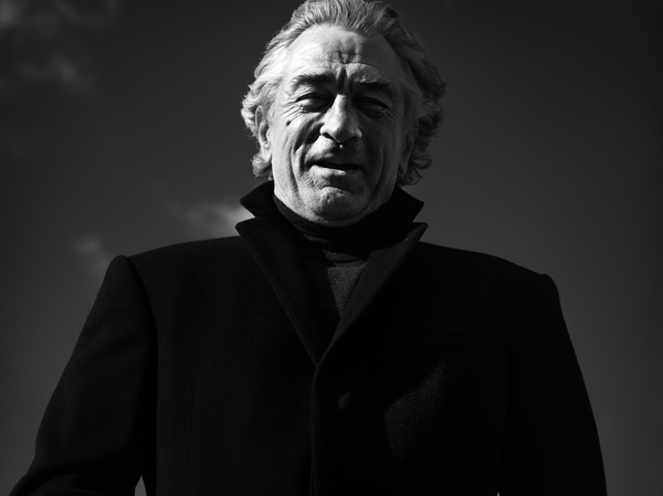 Роберт Де Ниро, фотографии, чб