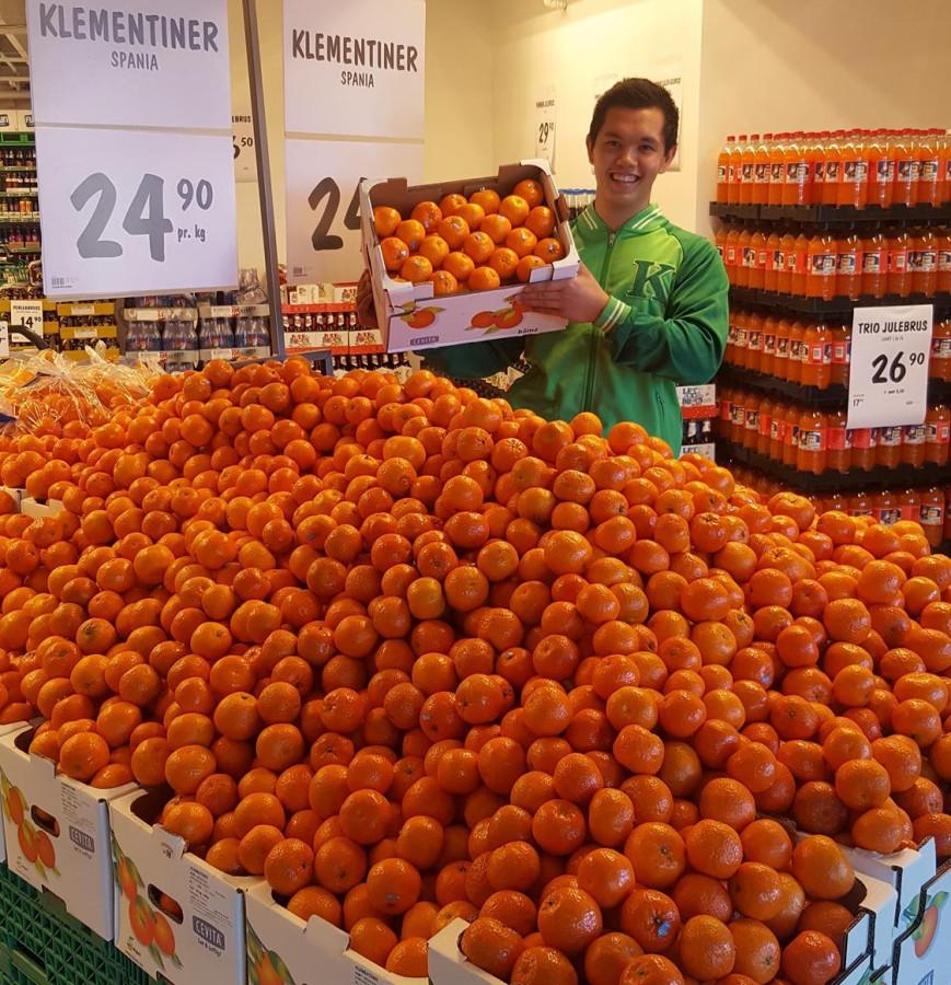 Клементины из Испании в норвежском супермаркете