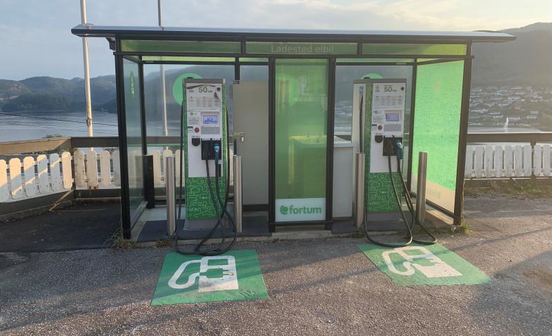 Быстрая зарядная станция электромобилей в г. Мои, Норвегия