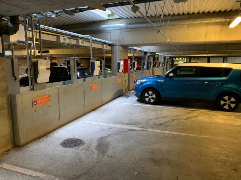 22 кВт зарядки в паркинге