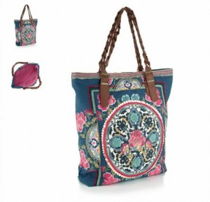Indigo Wow Embroidered Tote
