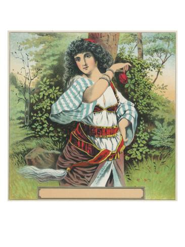 gypsy-woman-tobacco-label
