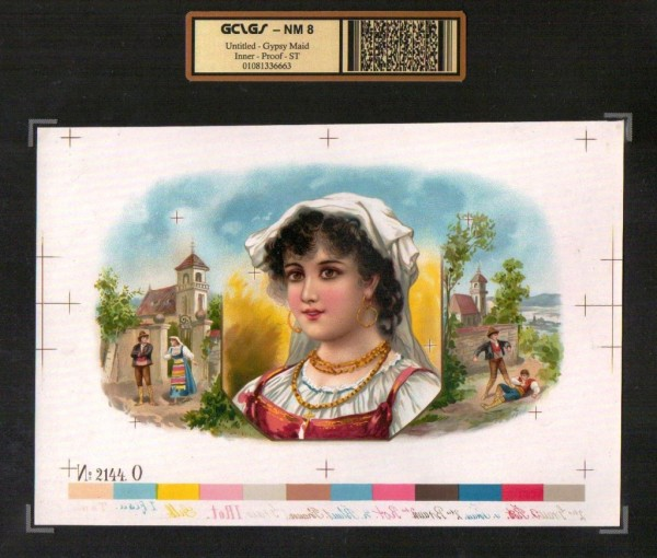 Gypsy Maid   NM 8      Vintage Cigar Box Advertising Label   #6663