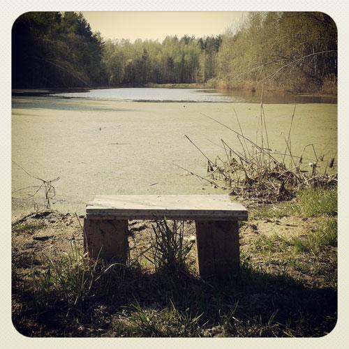 пруд-и-скамейка