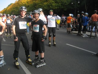 Before the marathon, with Simon Libidex