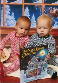 Twins Night Before Christmas