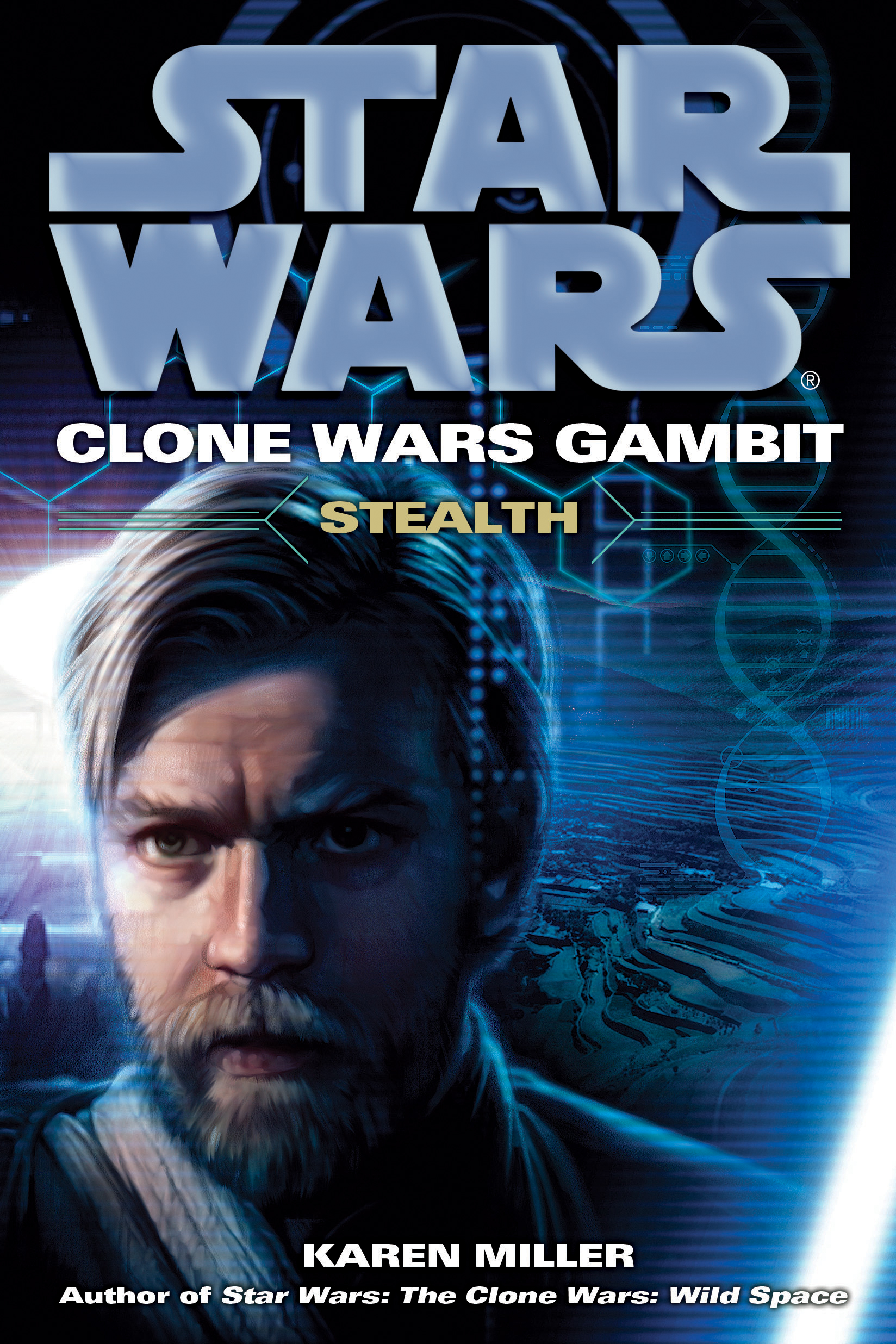 blue cover with Kenobi's face