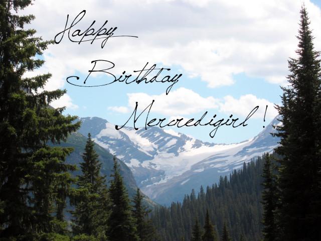 Happy Birthday, mercredigirl!