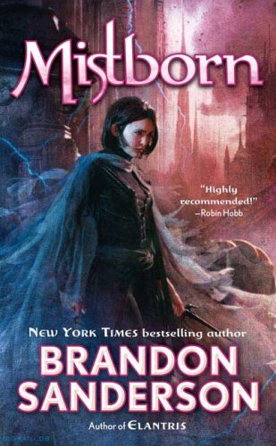 cover of The Final Empire, with a young woman dressed in a mistcloak looking down