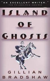 cover of Island of Ghosts, simple picture of Roman cavalryman on rearing horse