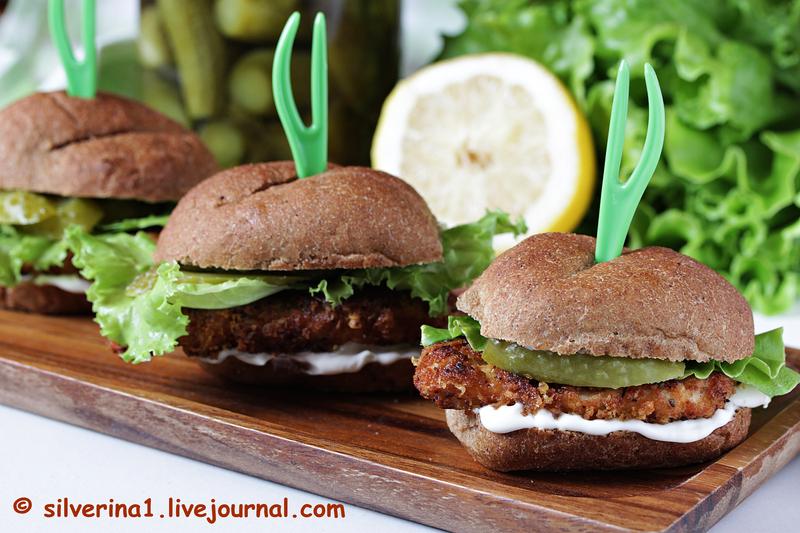 Сэндвичи с куриным шницелем