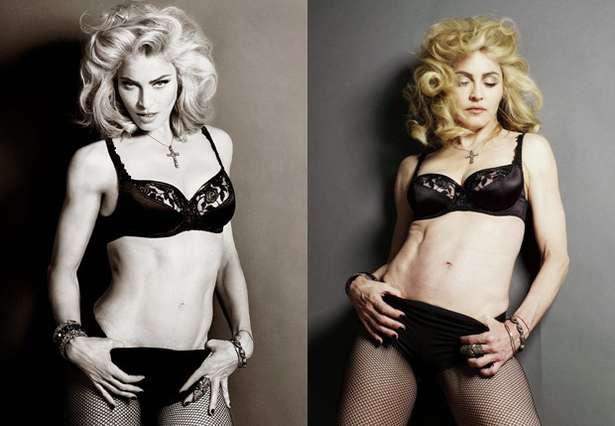 Madonna con o sin Photoshop 2