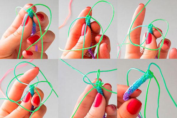 Как плести браслеты из разноцветных трубочек