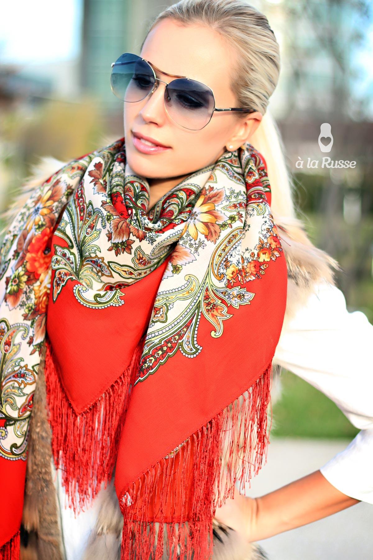 Модные русские платки