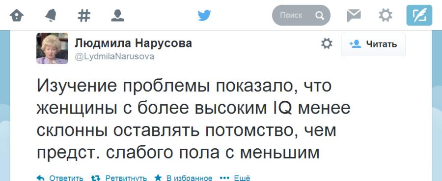Твиттер   LydmilaNarusova  Изучение проблемы ...