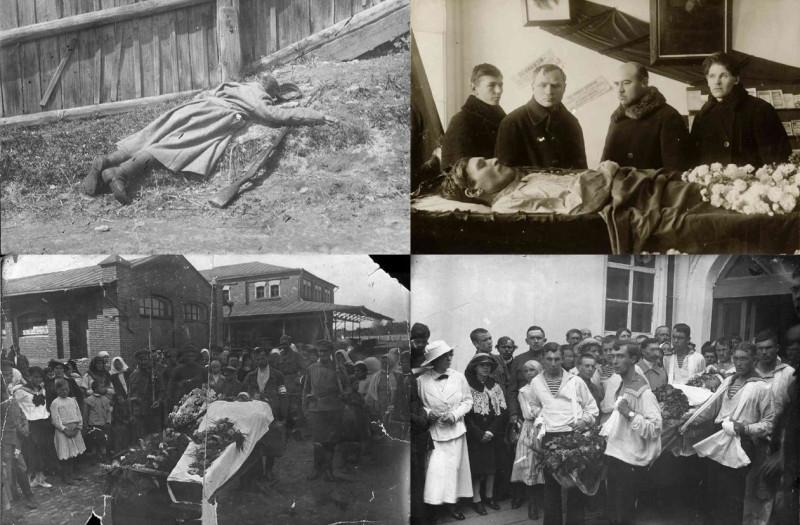 Жители Пензы, убитые чехословацкими легионерами 28-29 мая 1918 года (фото - Государственный архив Пензенской области).