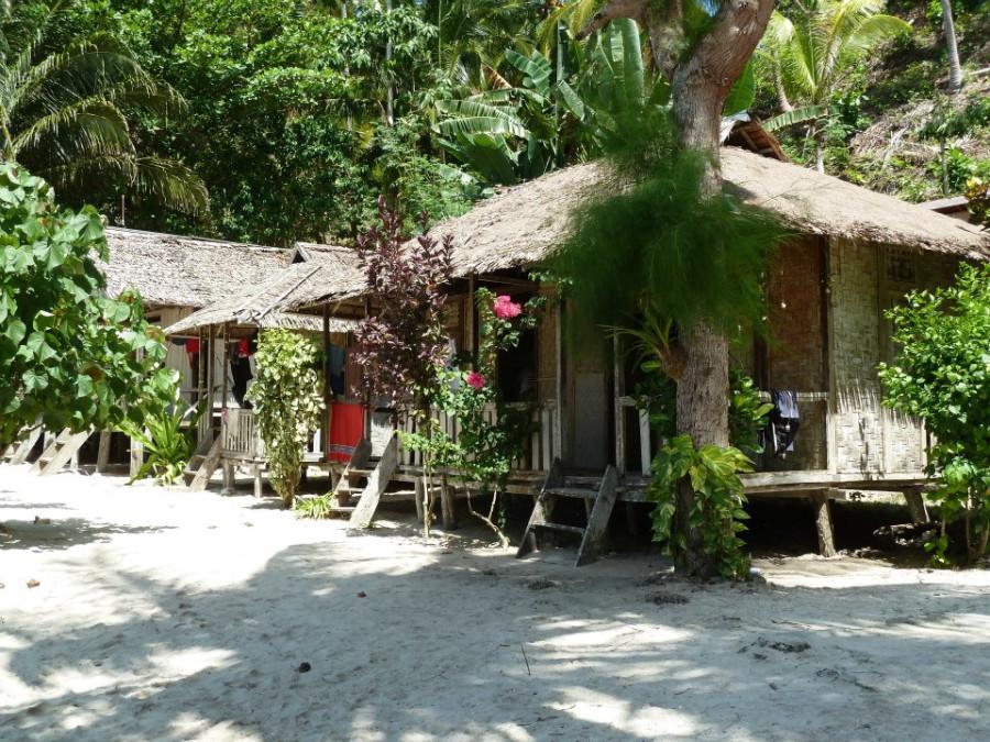 бунгало за 12 долларов на берегу шикарного пляжа на пзатерянных островах
