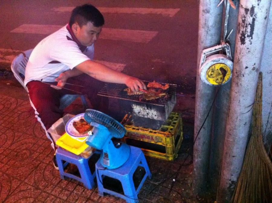 уличная еда во Вьетнаме, это я тоже попробовала