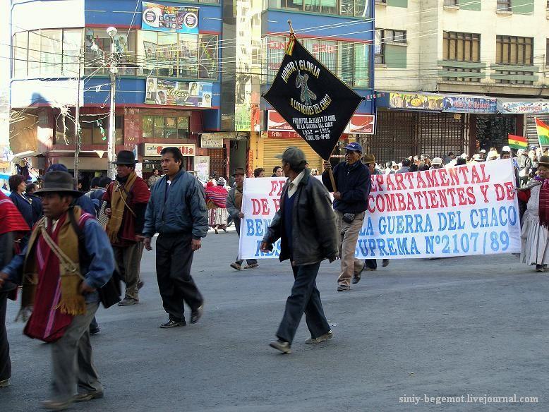 Фото8 Демонстранты несут флаги своих департаментов