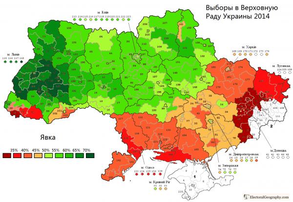 Явка на выборах Украины
