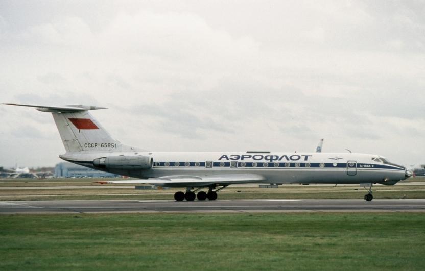 Ту-134 на рулении