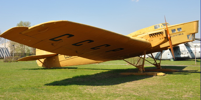 АНТ -1 в музее авиации Ульяновска