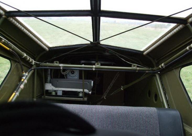Як-12. Вид из кабины назад