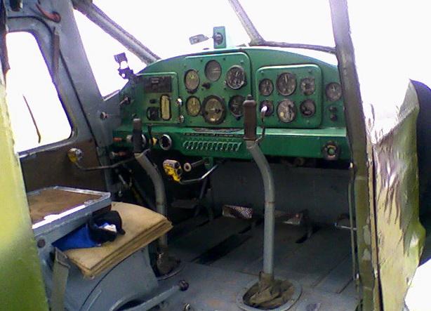 В кабине Як-12