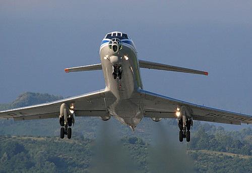 Ту-134А на взлете