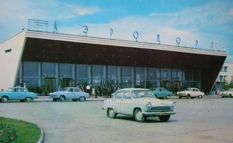 Вход в аэровокзал Толмачево, 60-е - 80-е годы