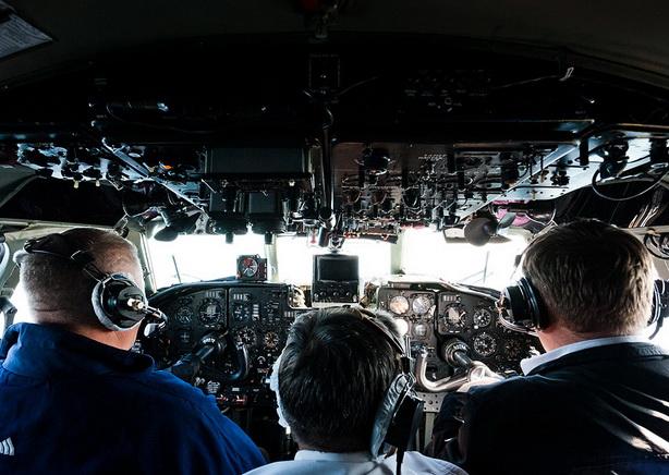 В кабине Ан-24