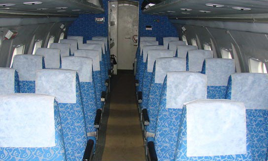 Пассажирский салон  Як-40