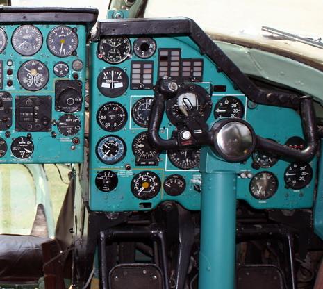 Правая приборная доска Ту-134