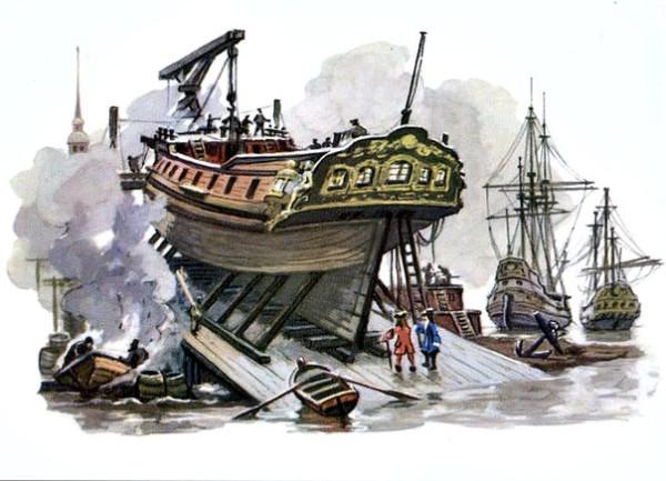 петровский корабль на стапеле 382