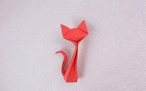 Кошечка оригами