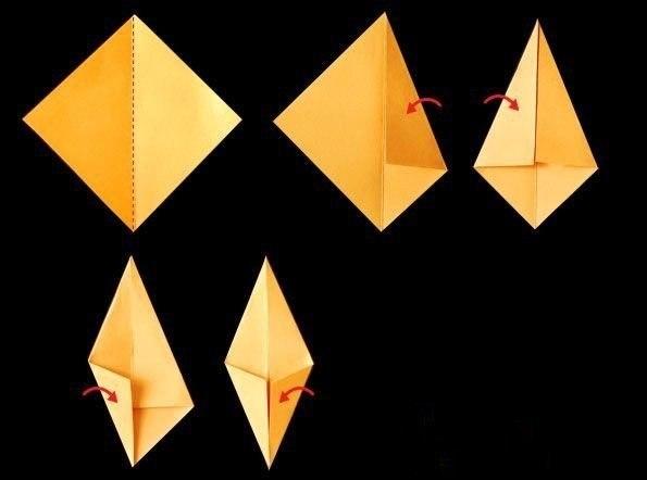 Осенние листочки в технике оригами2