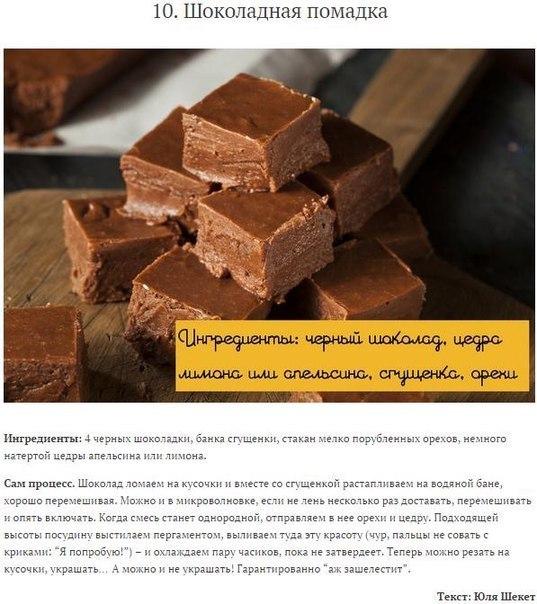 Лучшие рецепты домашних конфет10