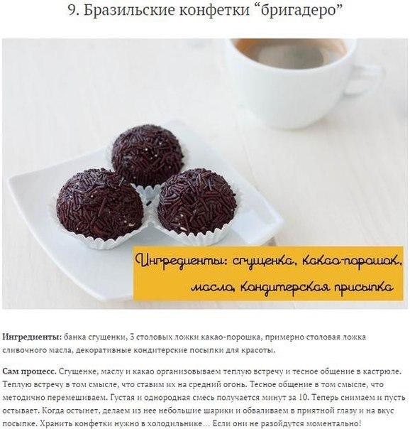 Лучшие рецепты домашних конфет9