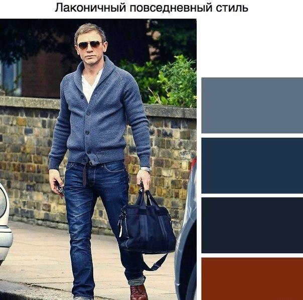 Сочетании цветов в одежде для мужчин