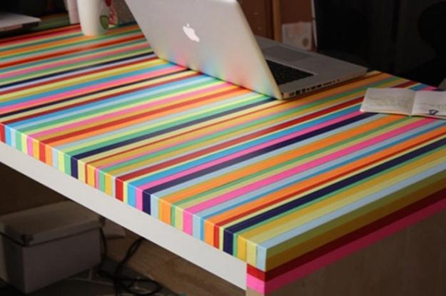 Яркая лента и у вас креативный стол